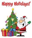 圣诞节问候圣诞老人 免版税库存照片
