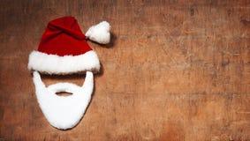 圣诞节问候的空的卡片 库存照片