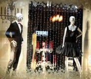圣诞节陈列室在商店Intermodа下诺夫哥罗德 免版税库存照片