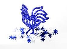 圣诞节雄鸡 免版税库存照片