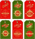 圣诞节集合标签 皇族释放例证
