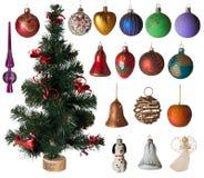 圣诞节集合玩具 免版税库存图片