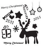圣诞节集合符号 库存图片
