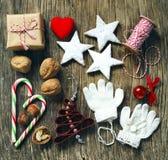 圣诞节集合装饰 库存图片