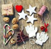 圣诞节集合装饰 库存照片