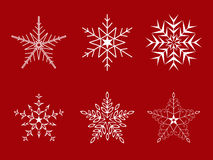 圣诞节集合雪花 库存图片