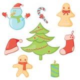 圣诞节集合 免版税库存照片