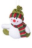圣诞节雪人玩具 免版税库存照片