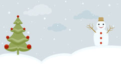 圣诞节雪人结构树 免版税库存图片