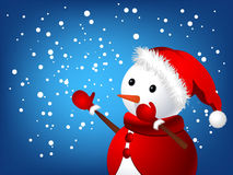 圣诞节雪人 免版税图库摄影
