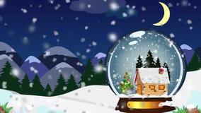 圣诞节雪地球 皇族释放例证