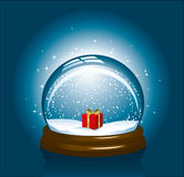 圣诞节雪地球 库存图片