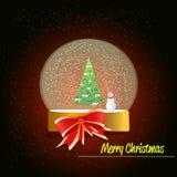 圣诞节雪地球 免版税图库摄影