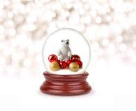 圣诞节雪地球 免版税库存照片