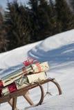 圣诞节雪撬 免版税库存照片
