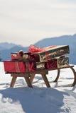 圣诞节雪撬 库存图片