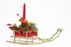 圣诞节雪撬 图库摄影