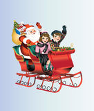圣诞节雪橇 免版税库存照片