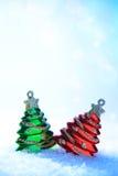 圣诞节雪结构树二白色 库存图片