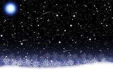 圣诞节雪花传染媒介例证 图库摄影