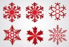 圣诞节雪花向量 免版税库存图片