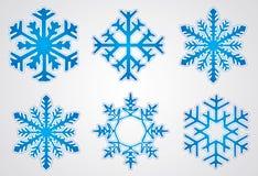 圣诞节雪花向量 免版税图库摄影