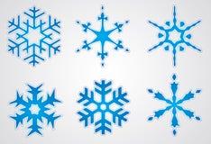 圣诞节雪花向量 免版税库存照片