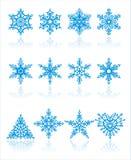 圣诞节雪花向量 向量例证