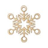 圣诞节雪花形状装饰做了木树 免版税图库摄影
