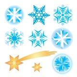 圣诞节雪花星形 向量例证