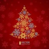 圣诞节雪花树 免版税库存照片