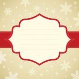 圣诞节雪花框架。 免版税库存照片