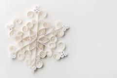 圣诞节雪花纸 免版税库存图片