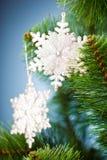 圣诞节雪花结构树 图库摄影