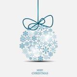 圣诞节雪花背景传染媒介 库存照片