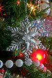 圣诞节雪花装饰品 库存照片