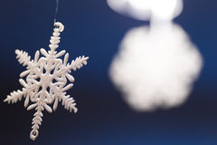 圣诞节雪花装饰 免版税库存照片