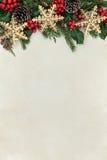 圣诞节雪花边界 免版税图库摄影