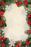 圣诞节雪花边界 免版税库存照片