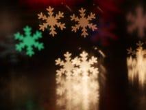 圣诞节雪花bokeh背景 库存图片