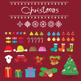 圣诞节雪装饰 图库摄影