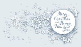 圣诞节雪问候 向量例证
