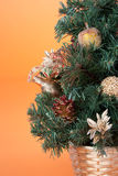 圣诞节零件结构树 库存照片