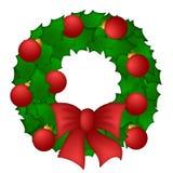 圣诞节霍莉叶子花圈 库存图片