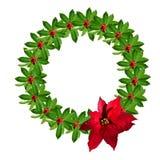 圣诞节霍莉花圈 免版税库存照片