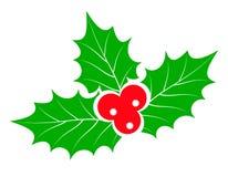 圣诞节霍莉莓果储蓄传染媒介例证 库存例证