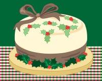 圣诞节霍莉蛋糕 库存照片