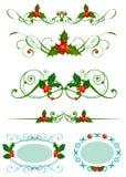 圣诞节霍莉集 免版税库存图片