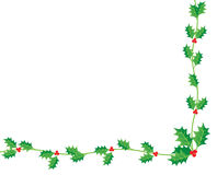 圣诞节霍莉 库存照片