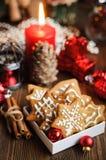 圣诞节静物画用饼干 免版税库存图片